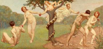 Caderea in pacat si expulzarea, pictura de Kenyon Cox