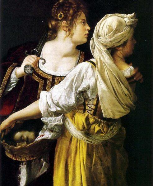 'Iudit si slujnica', Artemisia Gentileschi, 1613-14