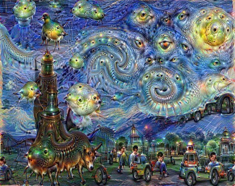 A Vincent van Gogh-inspired Google DeepDream painting, Jeroboam Boha fragrance review