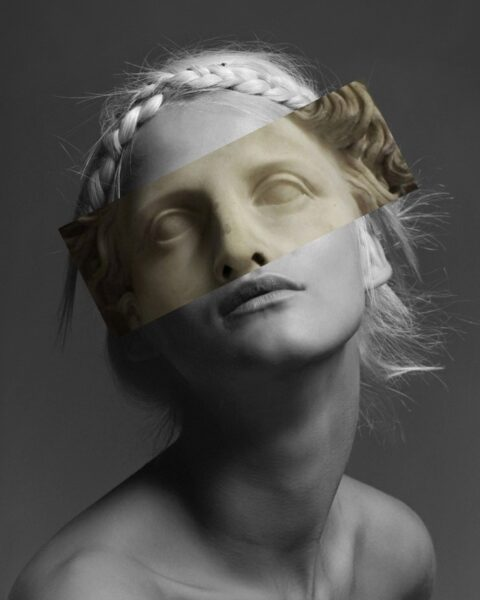 Carmen Kass (For Her Muse), digital editing by Nicoleta